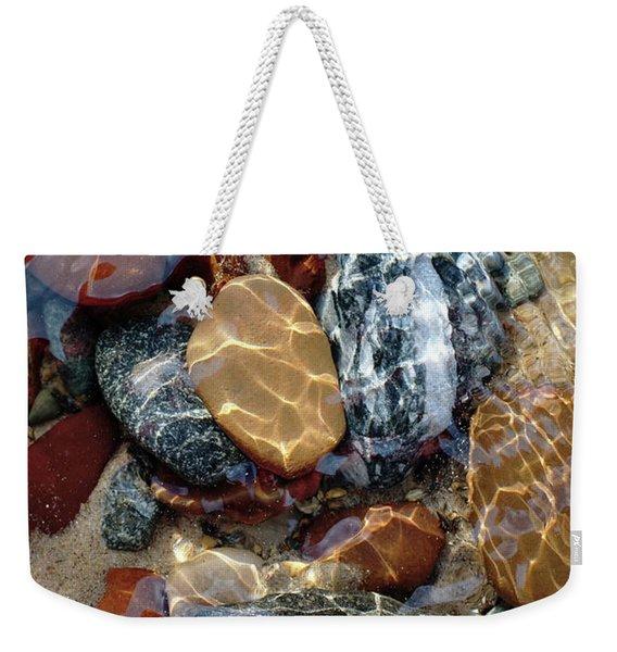 Mesmerized By The Creek Stones  Weekender Tote Bag