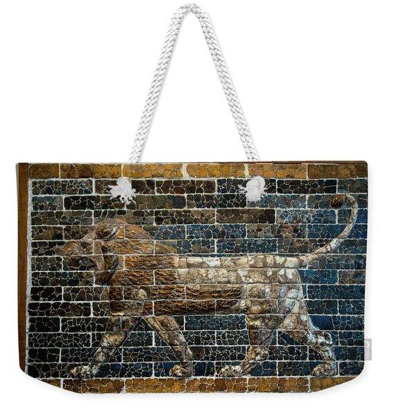 Mesopotamian Lion Weekender Tote Bag