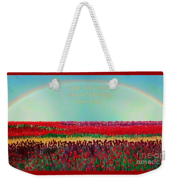 Message From The Other Side With A Bit Of Christmas Color Cheer Weekender Tote Bag