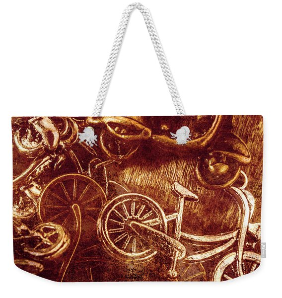 Messy Bike Workshop Weekender Tote Bag