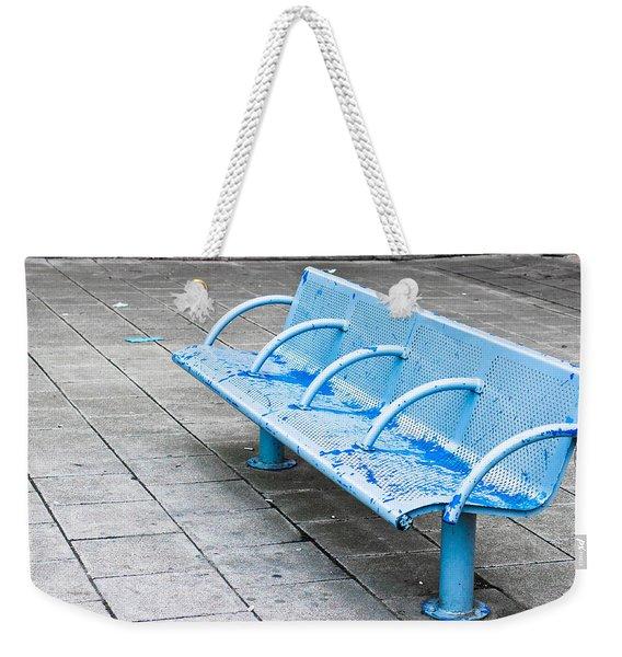 Metal Bench Weekender Tote Bag