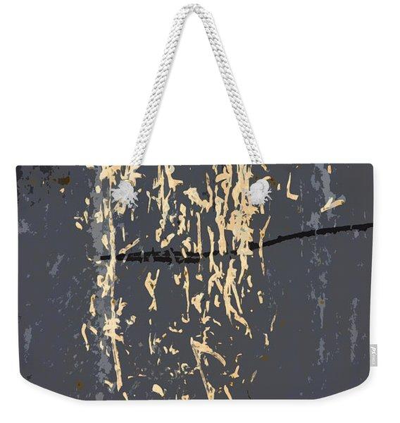 Metal Calligraphy Weekender Tote Bag