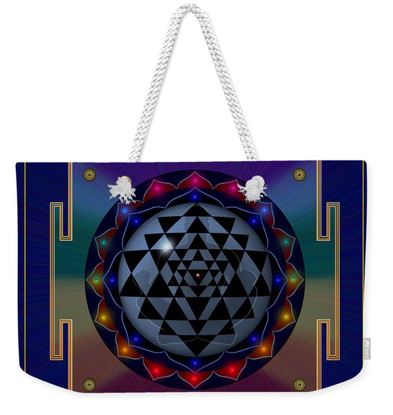 Metal Mandala Weekender Tote Bag