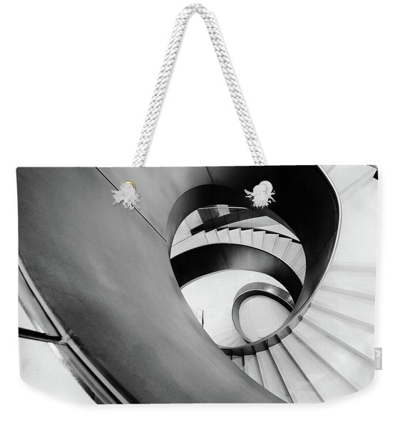 Metal Spiral Staircase London Weekender Tote Bag