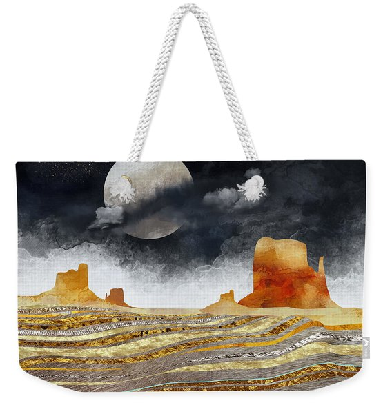 Metallic Desert Weekender Tote Bag