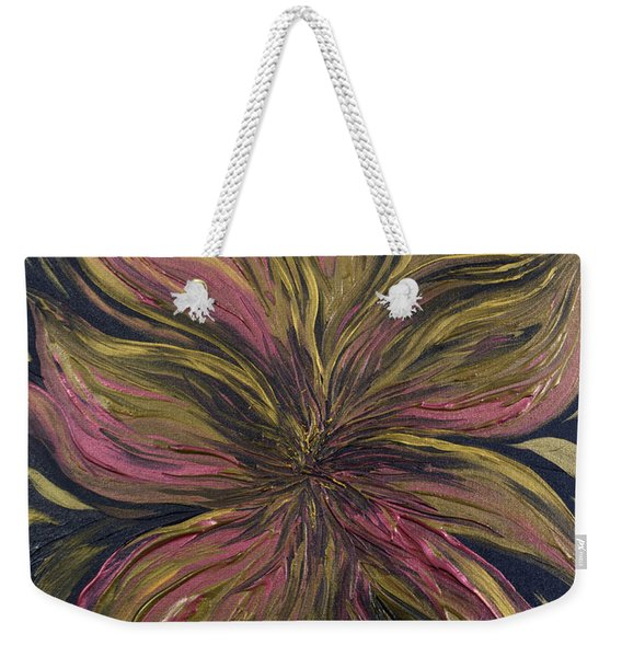 Metallic Flower Weekender Tote Bag
