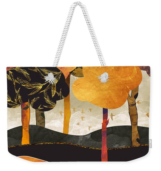 Metallic Forest Weekender Tote Bag