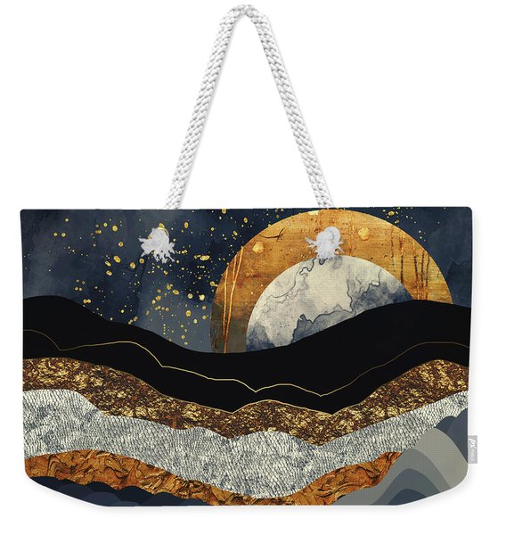Metallic Mountains Weekender Tote Bag