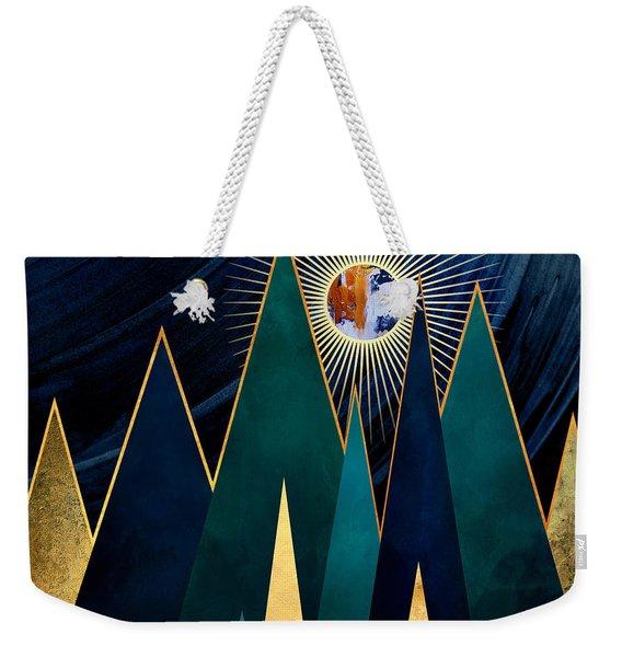 Metallic Peaks Weekender Tote Bag
