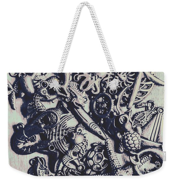 Metallic Seas Weekender Tote Bag