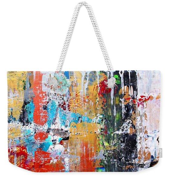 Metallic Winter Weekender Tote Bag