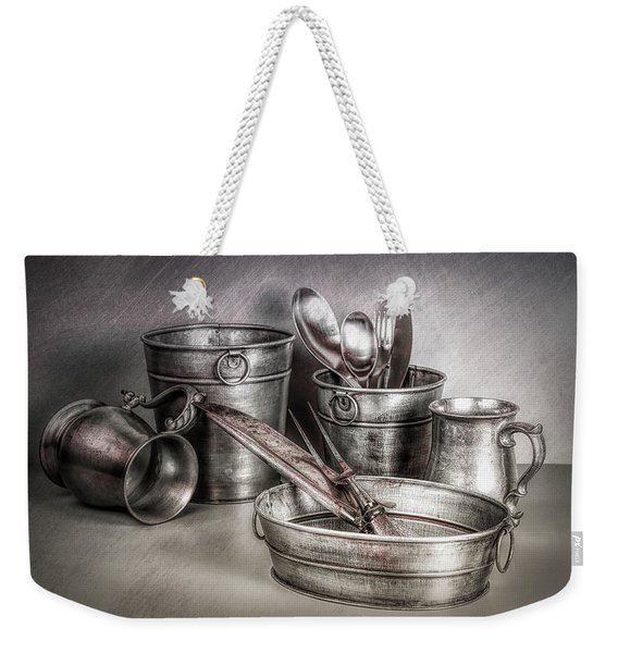 Metalware Still Life Weekender Tote Bag