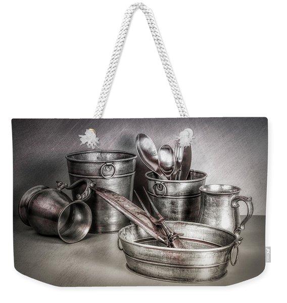 Metalware Still Life Weekender Tote Bag