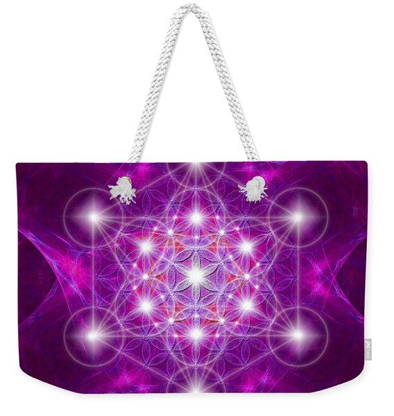 Metatron Cube Mandala Weekender Tote Bag