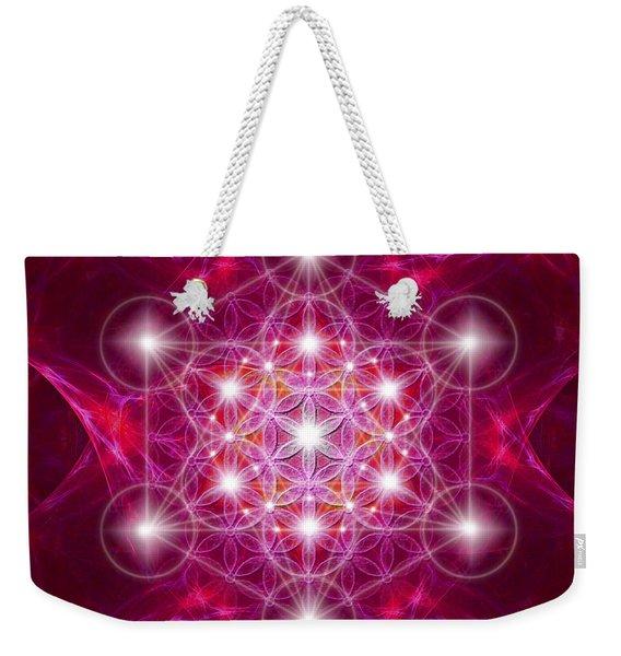 Metatron Cube With Flower Weekender Tote Bag