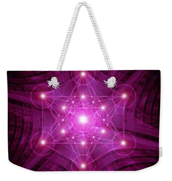 Metatron's Cube Weekender Tote Bag