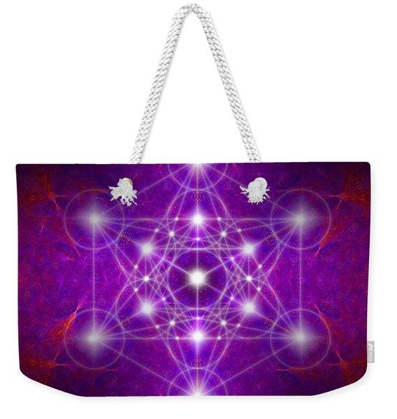 Metatron's Cube Colors Weekender Tote Bag