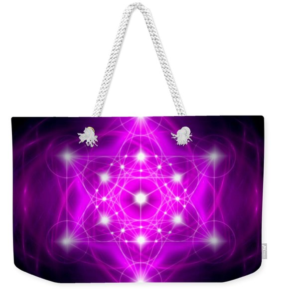 Metatron's Cube Vibration Weekender Tote Bag