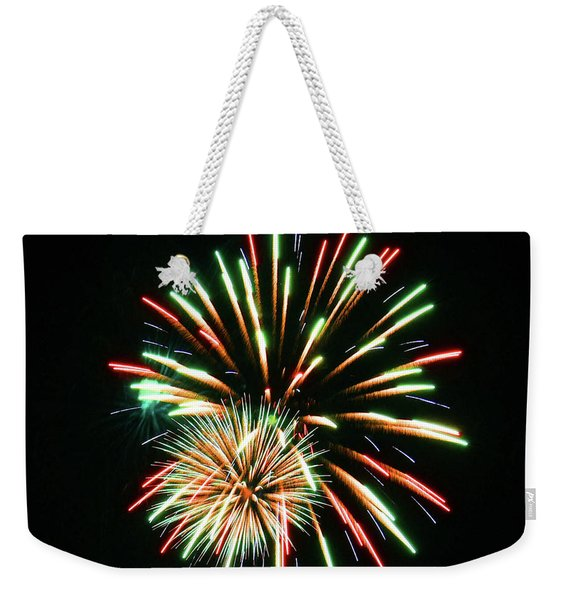 Weekender Tote Bag featuring the photograph Meteor Shower by Sally Sperry