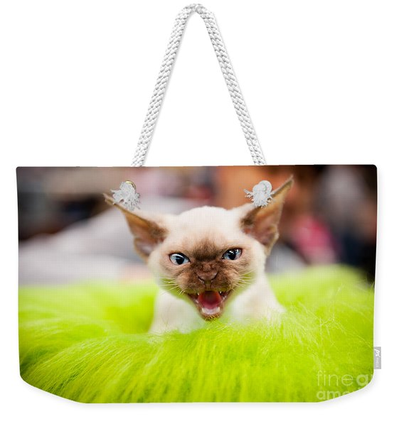 Mew Kitty Funny Mad Face Weekender Tote Bag