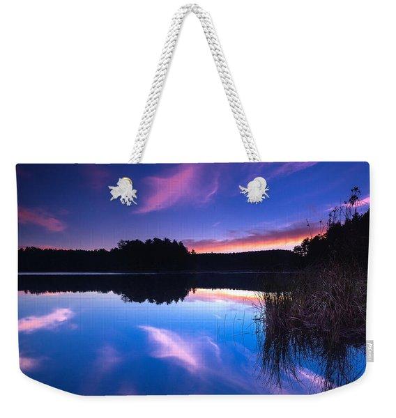 Mew Lake Sunset Weekender Tote Bag
