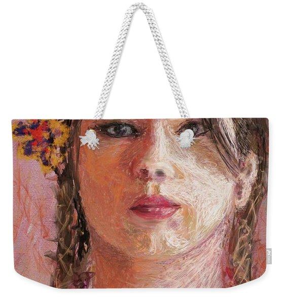 Mexican Girl Weekender Tote Bag