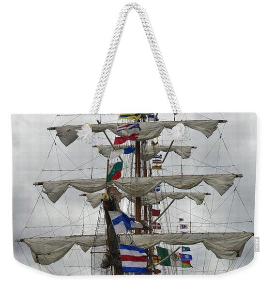 Mexican Navy Ship Weekender Tote Bag