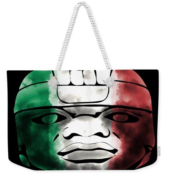 Mexican Olmec Weekender Tote Bag