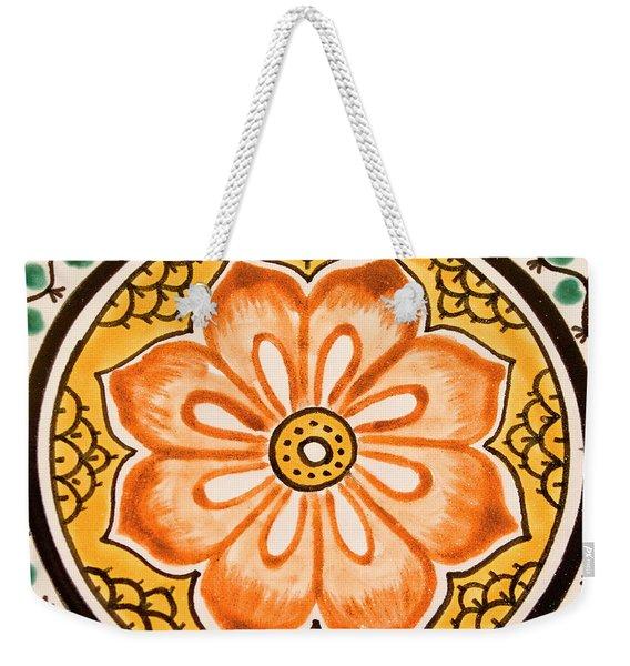 Mexican Tile Detail Weekender Tote Bag