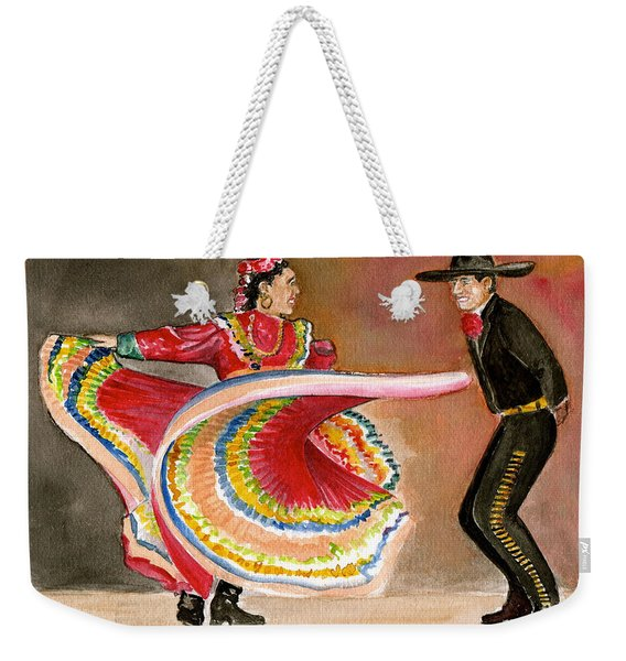 Mexico City Ballet Folklorico Weekender Tote Bag