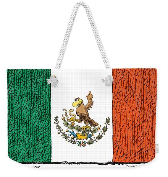 Mexico Flips Bird Weekender Tote Bag