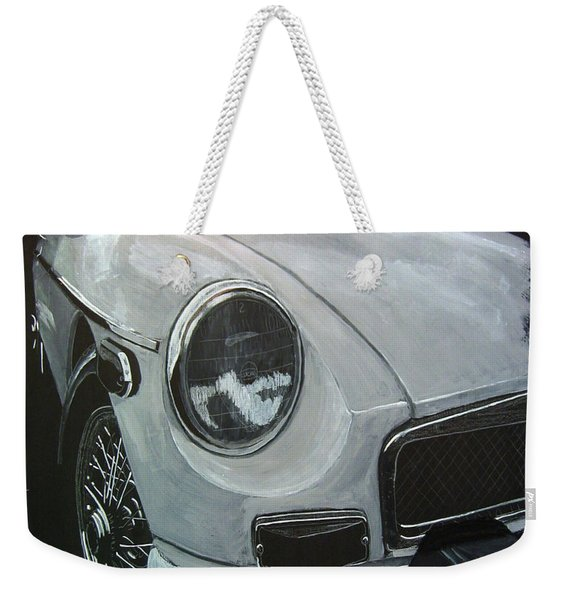 Weekender Tote Bag featuring the painting MGB by Richard Le Page