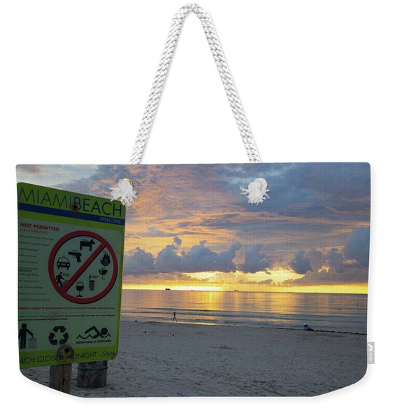 Miami Beach Sunrise Weekender Tote Bag