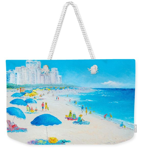 Miami Beach Umbrellas Weekender Tote Bag
