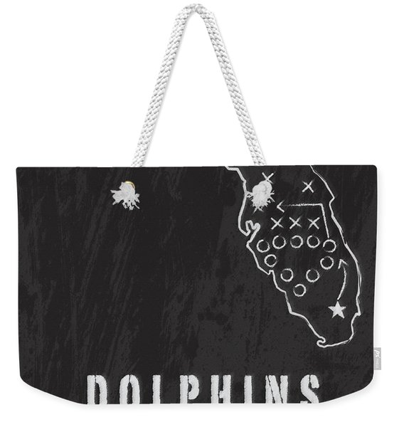 Miami Dolphins Art - Nfl Football Wall Print Weekender Tote Bag