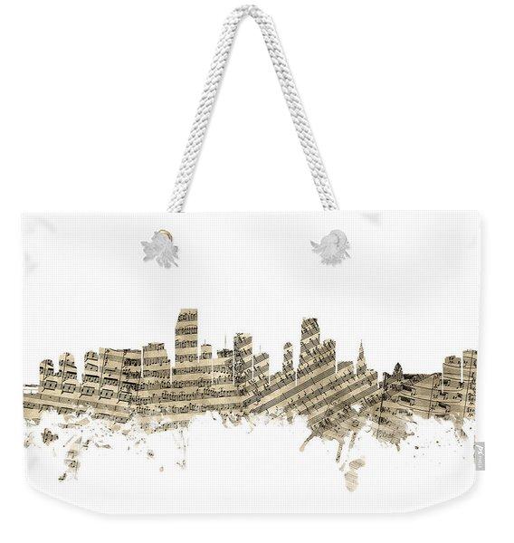 Miami Florida Skyline Sheet Music Weekender Tote Bag