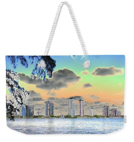 Miami Skyline Abstract Weekender Tote Bag