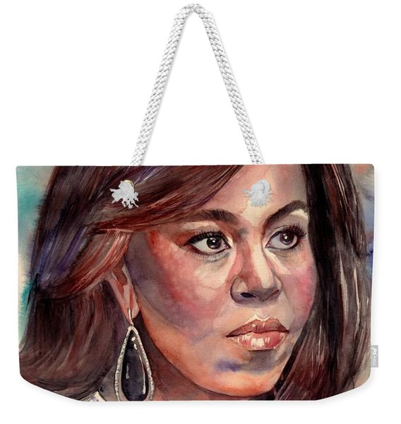 Michelle Obama Portrait Weekender Tote Bag