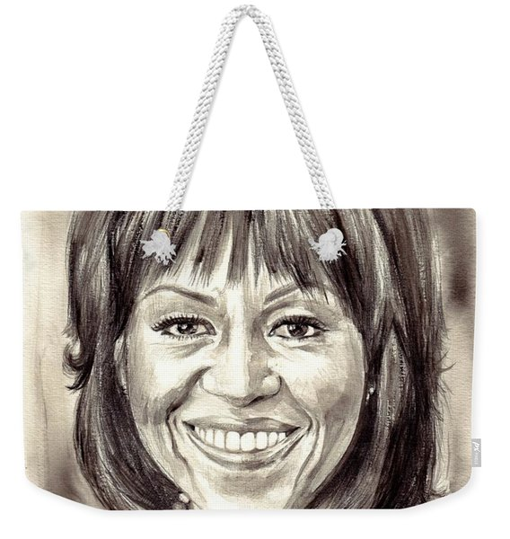 Michelle Obama Watercolor Portrait Weekender Tote Bag