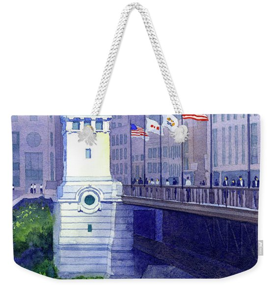 Michigan Avenue Bridge Weekender Tote Bag