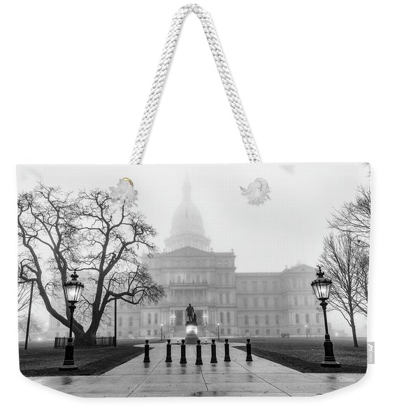 Michigan Capitol Foggy Morning 2 Weekender Tote Bag