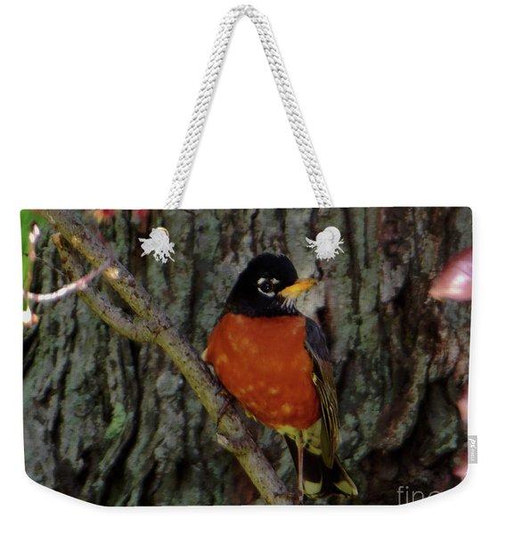 Michigan State Bird Robin Weekender Tote Bag
