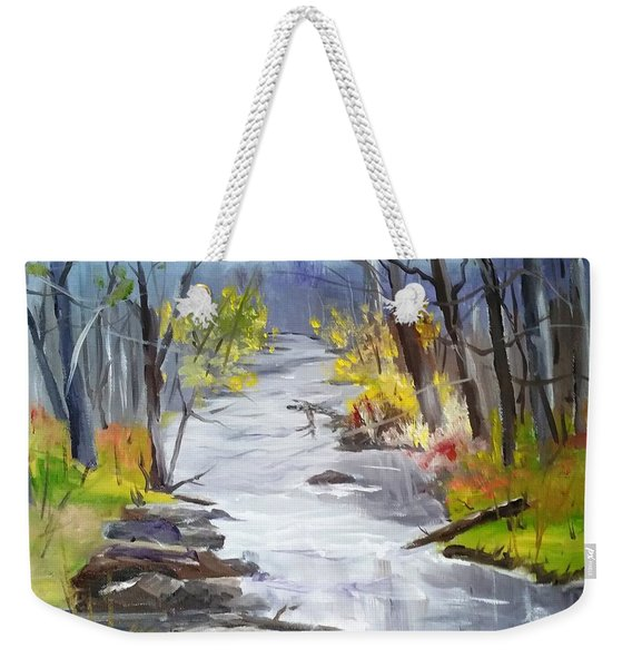 Michigan Stream Weekender Tote Bag