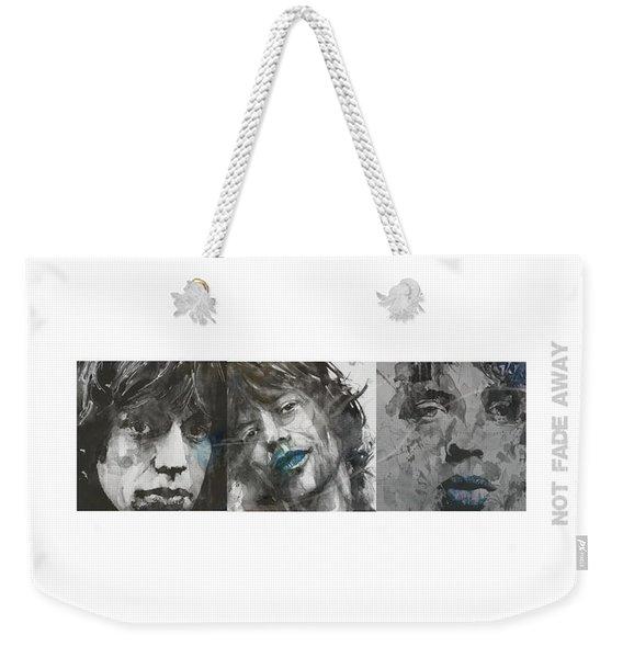 Mick Jagger Triptych Weekender Tote Bag
