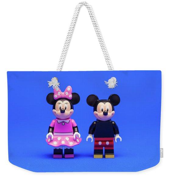Mickey And Minnie Weekender Tote Bag