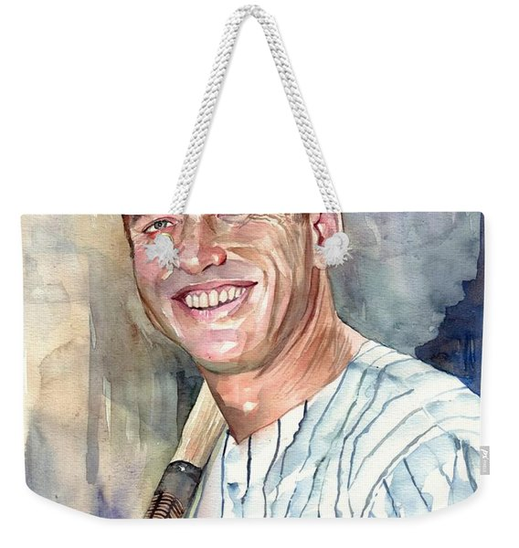 Mickey Mantle Portrait Weekender Tote Bag