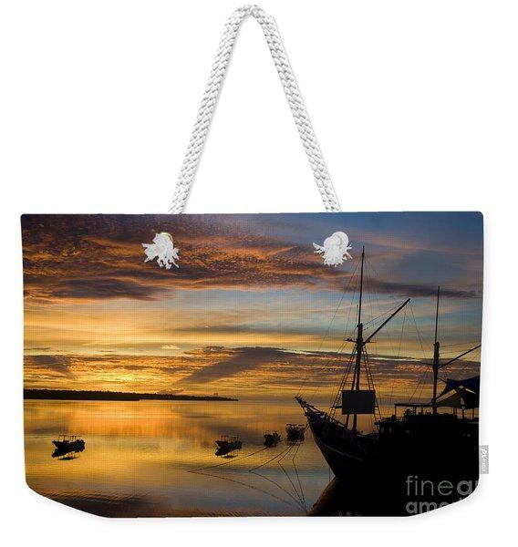 Micronesia Sunrise Weekender Tote Bag