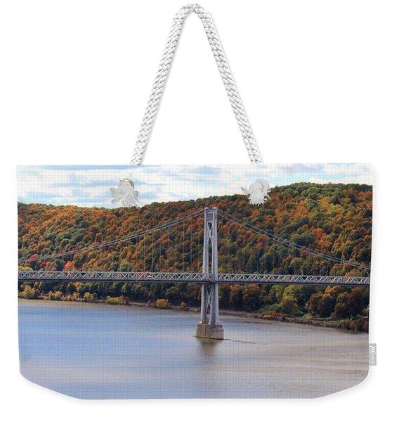 Mid Hudson Bridge In Autumn Weekender Tote Bag