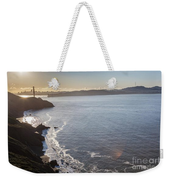 Mid Morning View Of The Downtown San Franscisco Over The Golden  Weekender Tote Bag