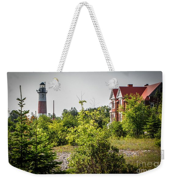 Middle Island Lighthouse And Keepers Lodging Weekender Tote Bag